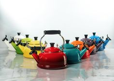 Colorful Kettles  #kettles #lifestyle #photography #styling #tea #coffee #home #interior #inspiration #kitchen
