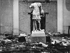 The Glypotheck Museum in Munich, bombed Germany winter of 1945 Herbert List