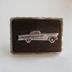 Vintage 1960s Wood Car Cufflinks #vintage #1960s #rockabilly #cufflinks #wedding #groomsgift @Etsy