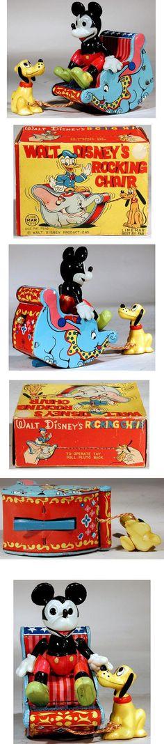 c.1955 Linemar, Walt Disney's Rocking Chair in Original Box