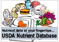 USDA Nutrient Database (in common foods/products):: http://ndb.nal.usda.gov/. Visit http://www.ourcommunityfoodbank.org/index.cfm/m/28/Programs/ for more food and nutrition facts.