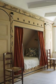 NOOK – a creative way to include a bed in a child's bedroom. This can stir a child's imagination, as they can imagine a fort, a reading nook, or a secret sanctuary.
