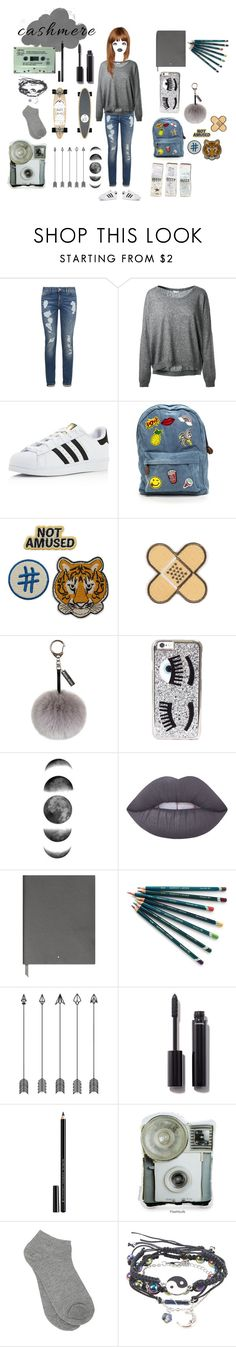 """""""Cashmere"""" by music-is-harmony ❤ liked on Polyvore featuring Tommy Hilfiger, Leetha, adidas, GUESS, Helen Moore, Chiara Ferragni, Lime Crime, Montblanc, Isabel Marant and Chanel"""
