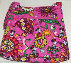Disney Vera Bradley Minnie Mickey Mouse Hipster Purse Just Mousing Around NWTS