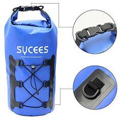 498084628f0 SYCEES Bolsas estancas impermeable 10L Azul con bolsillo portátil  adjustable y cinta doble adjustable para movil