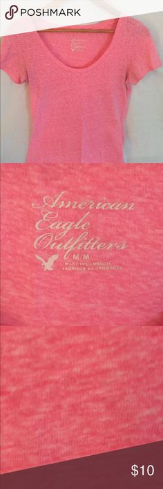 American Eagle Outfitters short sleeve T. Pink. American Eagle Outfitters short sleeve T. Pink marbled. Size Medium. American Eagle Outfitters Tops Tees - Short Sleeve