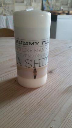 #mummies #flu #illness Photo Candles, Flu, Pillar Candles, Homemade, Home Made, Diy Crafts, Hand Made, Diys, Taper Candles