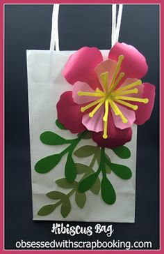 Obsessed with Scrapbooking: [Video]How to Make Hibiscus Flowers using Flower Market Cricut Cartridge