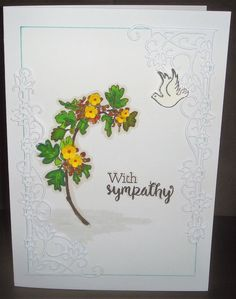 Stamped & coloured image with small die-cut flowers added and a beautiful corner die Cut Flowers, I Card, Corner, Bullet Journal, Stamp, Image, Beautiful, Stamps