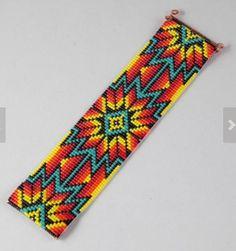 Tiger Bead Loom Bracelet by Be  