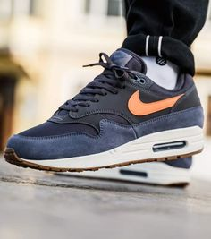 promo code 2cb1b 2d85f Nike Air Max 1 (grey   orange) - AH8145-010. 43einhalb Sneaker Store