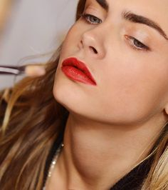 Burberry Beauty Siren Red lips worn by Cara Delevingne