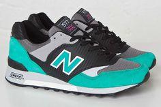 NEW BALANCE 577 CARBON FIBER (BLACK/TURQUOISE) - Sneaker Freaker
