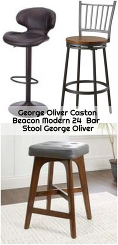 George Oliver Caston Beacon Modern 24  Bar Stool George Oliver , George Oliver Caston Beacon Modern 24 Bar Stool George Oliver... ,  #bar #Beacon #Caston #George #Modern #Oliver #Stool 24 Bar Stools, Counter Bar Stools, Modern, Furniture, Home Decor, Trendy Tree, Decoration Home, Room Decor, Counter Height Stools