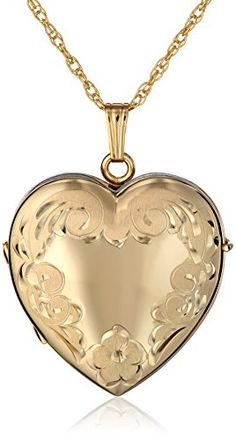 14k Yellow Gold Estate Engraved Mom Heart Locket Pendant Jewelry Is Me:Great Holiday Gifts Him or Her Vintage to Modern
