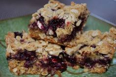 Oatmeal fruit bars, i'm sure i can do this with whatever fruit i want inside.