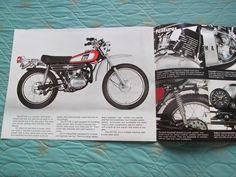 Carx Circa 1974 Yamaha DT125 Motorcycle Sales Brochure | eBay