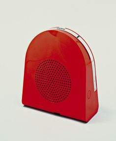 "GA 45 Pop Automatic Record Player Mario Bellini (Italian, born 1935)  1968. ABS plastic and metal, 3 1/4 x 7 3/4 x 8 5/8"" (8.3 x 19.7 x 21.9 cm). Manufactured by Minerva, Milan, Italy. Gift of the manufacturer. © 2013 Mario Bellini"