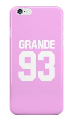 Our Grande 93 - Ariana Grande Phone Case is available online now for just £5.99.    Fan of Ariana Grande? Get this Grande 93 baseball inspired case, perfect for any Arianator!    Material: Plastic, Production Method: Printed, Authenticity: Unofficial, Weight: 28g, Thickness: 12mm, Colour Sides: Clear, Compatible With: iPhone 4/4s | iPhone 5/5s/SE | iPhone 5c | iPhone 6/6s | iPhone 7 | iPod 4th/5th Generation | Galaxy S4 | Galaxy S5 | Galaxy S6 | Galaxy S6 Edge | Galaxy S7 | Galaxy S7 Edge…