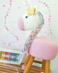 Crochet Bebe Amigurumi Tejidos Ideas For 2019 Crochet Home, Cute Crochet, Crochet Baby, Create Your Own Image, Discovery Toys, Stool Covers, Crochet Unicorn, Crochet Cushions, Baby Decor