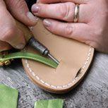 TUTORIAL: how to make a pair of capri sandal soles