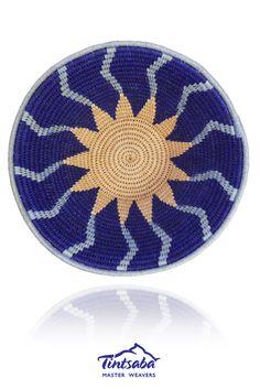 TINTSABA - Sisal basket handmade in Swaziland, 16cm www.Tintsaba.com