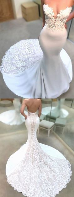 Mermaid Wedding Dress lace wedding gowns sexy wedding dresses With Lace