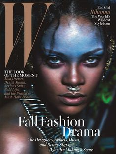 Fashion News - Fashion Roundup - Rihanna's Fierce W Magazine Cover; Cara Delevingne's Mermaid Party! Moda Rihanna, Estilo Rihanna, Rihanna Style, Rihanna Fenty, Rihanna Fashion, Rihanna 2014, Magazine W, Fashion Magazine Cover, Magazine Covers