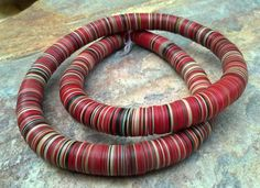 African Vinyl Vulcanite Disc Beads 31.5 by RedEarthBeads on Etsy, $26.00