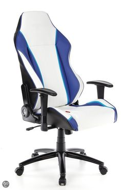 bol.com | Racing DAYTONA bureaustoel - Zwart/Wit/Blauw | Wonen