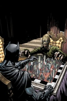 Art totally embodies the Batman - Scarecrow working relationship. Love it.