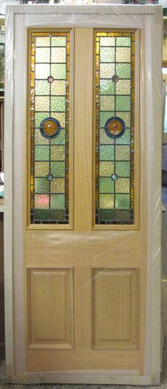 Pre finished Oak fire door with leaded lights.jpg 1,386×3,230 pixels