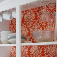 How to line the interiors of your kitchen cupboards with fabric and foam board
