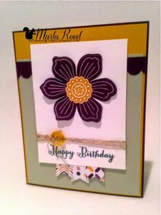 Blackberry Bliss Bloom For You by MarlaR - Cards and Paper Crafts at Splitcoaststampers