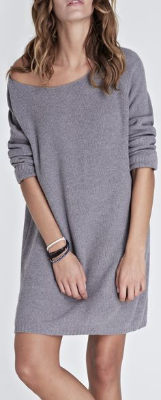 sweater dress--- would be cute over white skinny capri