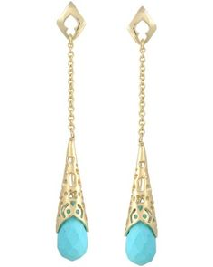 Tamara Long Earrings in Turquoise - Kendra Scott Island Escape preview, in stores and online April 24, 2013 at 5pm CST.