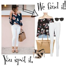 We're absolutely loving #florals this summer!  Want to recreate this look? Register on #SpotThis STAT: http://spothis.com/.  Trust me, our service is pretty much the best thing since sliced bread.
