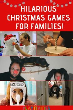 HILARIOUS CHRISTMAS GAMES FOR FAMILIES Shake things up this year and play some Hilarious Christmas Games For Families. Trust me, it will be the best holidays you've ever had! Most of the games don't require any preparation. It fits for all ages and you pr