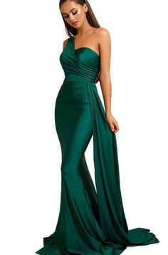 Gala Dresses, Pageant Dresses, Satin Dresses, Strapless Dress Formal, Green Evening Gowns, Silk Evening Gown, Elegant Evening Dresses, Formal Evening Gowns, Emerald Green Evening Dress