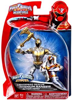 Power Rangers Super Megaforce Titanium Ranger Action Figure [Lightspeed Rescue]
