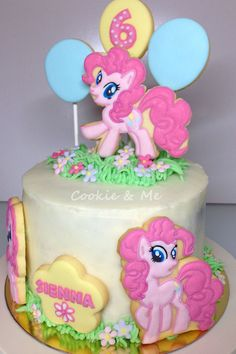 My Little Pony cake My Little Pony cookies Pinky Pie
