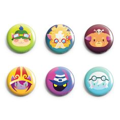 League of Legends Pins 6 Designs (Yordles, Teemo, Tristana, Lulu, Veigar, Heimerdinger, and Gnar)