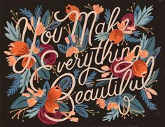 I find Anna Bond's designs and everything from Rifle Paper Co. inspirational.