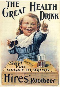 Hires Root Beer developed by Philadelphia Pharmacist Charles Elmer Hires in 1876.