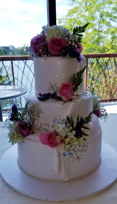 Calumet Bakery Fondant draped wedding cake with fresh flowers Fresh Flower Cake, Fresh Flowers, Calumet Bakery, Cupcake Cookies, Cupcakes, Pink Wedding Gowns, Decorated Cakes, Princesas Disney, Here Comes The Bride