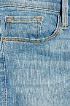 Light-blue stretch-denim Button and concealed zip fastening at front 93% cotton, 5% polyester, 2% Lycra Machine wash Designer wash: Mira Vista