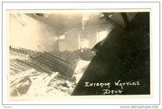 RP, Interior Wattles Drug Store/Pharmacy, Flood Damage, Burlington, Kansas, 1920-1940s - Delcampe.com