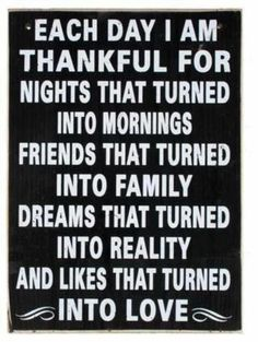 So much to be thankful for everyday