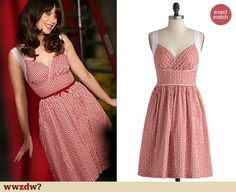 Zooey Deschanel's red dress from the behind the scenes of the New Girl Season 3 photoshoot - it is still available and on sale! http://wwzdw.com/z/4252/