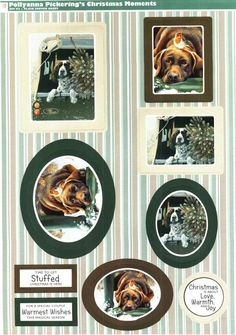 Pollyanna Pickering Christmas Moments die cut toppers & paper - spaniel, labrador, robin #2